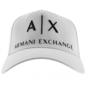 Armani Exchange logo Baseball Cap White