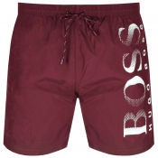 BOSS HUGO BOSS Octopus Swim Shorts Burgundy