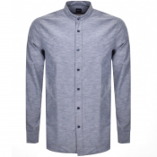 BOSS Casual Long Sleeved Race Shirt Navy