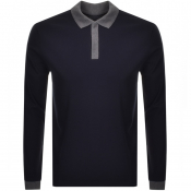 BOSS HUGO BOSS Pittman Long Sleeved Polo Navy