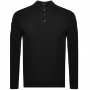 BOSS HUGO BOSS Pado 10 Long Sleeved Polo Black