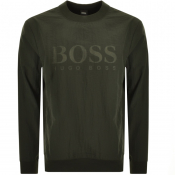 BOSS Casual WNylon Sweatshirt Green