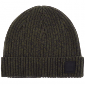 BOSS Casual Areffeno Beanie Hat Green