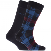 Product Image for BOSS HUGO BOSS Two Pack Socks Navy