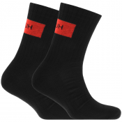HUGO Logo Sport Rib Socks Black