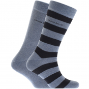 BOSS HUGO BOSS Two Pack Socks Blue