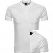 BOSS Athleisure Short Sleeved Polo T Shirt White