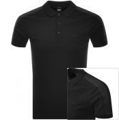 BOSS Athleisure Short Sleeved Polo T Shirt Black