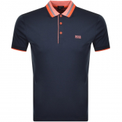 BOSS Athleisure Short Sleeved Polo T Shirt Navy