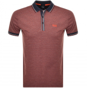 BOSS Athleisure Short Sleeved Polo T Shirt Orange
