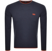 Product Image for BOSS Athleisure Rimex Knitted Jumper Blue