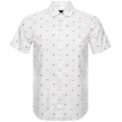 Product Image for BOSS Casual Short Sleeved Rash Shirt White