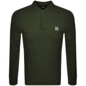 Product Image for BOSS Casual Long Sleeved Passerby Polo Shirt Khaki