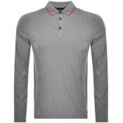 Product Image for BOSS Casual Long Sleeved Polo T Shirt Grey