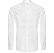 BOSS Casual Long Sleeved Race Shirt White