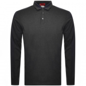 Product Image for HUGO Dengaluru Long Sleeved Polo T Shirt Grey