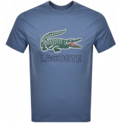 Lacoste Crew Neck Logo T Shirt Blue