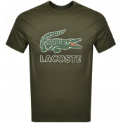 Lacoste Crew Neck Logo T Shirt Green