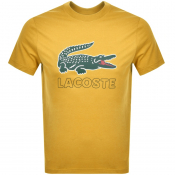 Lacoste Crew Neck Logo T Shirt Yellow
