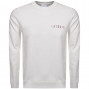 Product Image for Lacoste Crew Neck Logo Sweatshirt White