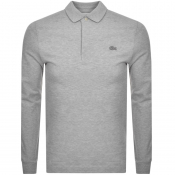 Product Image for Lacoste Long Sleeved Polo T Shirt Grey