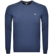 Lacoste Crew Neck Knit Jumper Blue