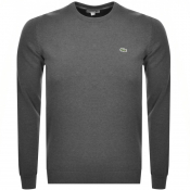 Product Image for Lacoste Crew Neck Knit Jumper Grey