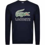 Product Image for Lacoste Large Crocodile Sweatshirt Navy