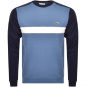 Product Image for Lacoste Crew Neck Logo Sweatshirt Blue