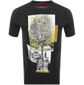 HUGO Dennai T Shirt Black