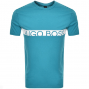 Product Image for BOSS HUGO BOSS Slim Fit UV Logo T Shirt Blue