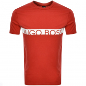 BOSS HUGO BOSS Slim Fit UV Logo T Shirt Red