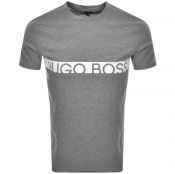 Product Image for BOSS HUGO BOSS Slim Fit UV Logo T Shirt Grey