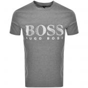 BOSS HUGO BOSS UV Protection Logo T Shirt Grey