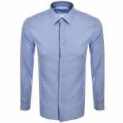 Product Image for BOSS HUGO BOSS Long Sleeved Isko Shirt Blue