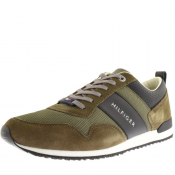 Product Image for Tommy Hilfiger Iconic Mix Runner Trainers Green