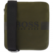Product Image for BOSS Athleisure Pixel Shoulder Bag Green