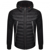 Product Image for Superdry Storm Flash Hybrid Hooded Jacket Black