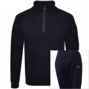 Product Image for Paul And Shark Half Zip Sweatshirt Navy