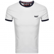 Product Image for Superdry Orange Label Cali Logo T Shirt White