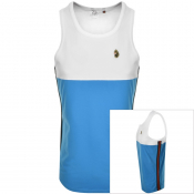 Product Image for Luke 1977 Watson Vintage Tape Vest T Shirt Blue