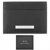 Armani Exchange Leather Card Holder Black