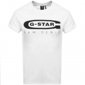 G Star Raw Logo T Shirt White