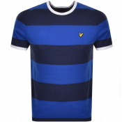 Product Image for Lyle And Scott Wide Striped Ringer T Shirt Blue