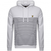 Product Image for Lyle And Scott Stripe Pullover Hoodie White