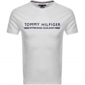 Product Image for Tommy Hilfiger Logo T Shirt White