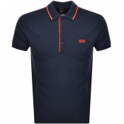BOSS Athleisure Paule 4 Jersey Polo T Shirt Navy