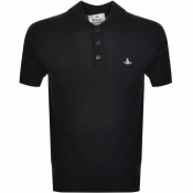Product Image for Vivienne Westwood Knitted Polo T Shirt Black