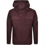 Product Image for CP Company Hooded Overshirt Jacket Burgundy