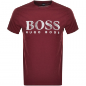 BOSS HUGO BOSS UV Protection Logo T Shirt Burgundy